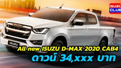 Photo of All new ISUZU D-MAX 2020 CAB4 ดาวน์ต่ำ 34,xxx บาท