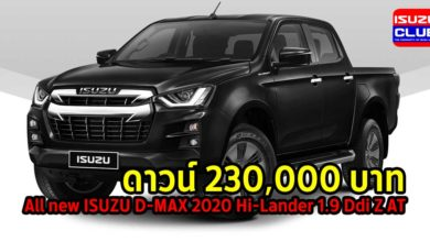 Photo of [ใบจอง ของแถม] All new ISUZU D-MAX 2020 Hi-Lander 1.9 Ddi Z AT
